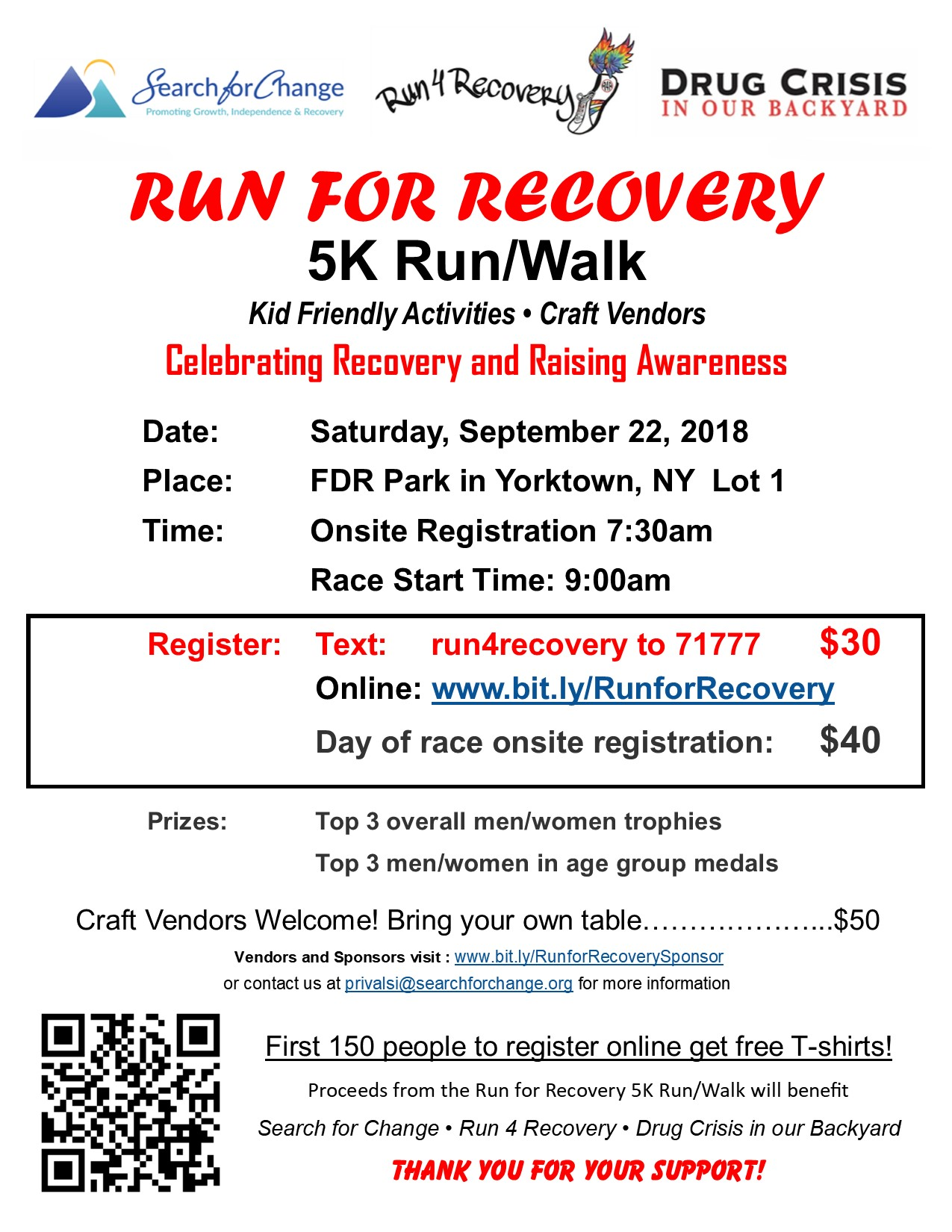 Run For Recovery 5K Run/Walk